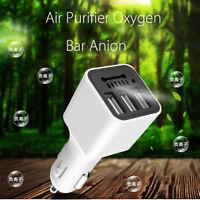 Car Auto Fresh Air Purifier Oxygen Bar Ozone Ionizer Generator +3 USB Charger
