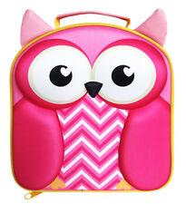 Polar Gear Kids 3D EVA Lunch Bag, Owl School Fun Insulated Pack Up Pink Girls