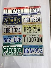 license plates lot Of 10