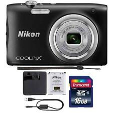 Nikon Coolpix A100 20.1MP Compact Digital Camera with Accessory Kit (Black)