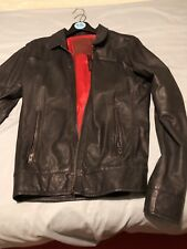 Superdry Leather Jacket Medium