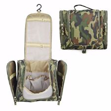 Large Camouflage Make Up Bag Case Storage Pouch Organizer Toiletry Travel #UK