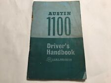 GENUINE BMC AUSTIN 1100 OEM OWNERS INSTRUCTION MANUAL DRIVERS HANDBOOK 1963