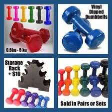 2KG Weight Set  2-Piece 1kg VINYL DIPPED COLOURED HEX DUMBBELLS