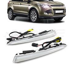 2PCS LED DRL Daytime Running Light Fog Lamp Kit White For Ford Kuga 14-17