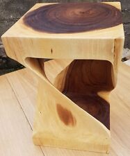 Infinity solid wood cube side table lamp table stool wood coffee table small