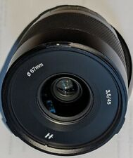 Hasselblad XCD 45mm F/3.5 shutter count 183 Exposures H-3025045
