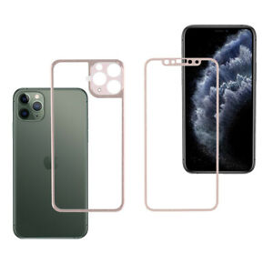 For Apple iPhone 11/12/12 Pro Max Front and Back Tempered Glass Screen Protector