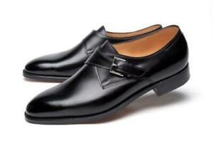 John Lobb Ashill Single-Monk Black Leather Shoes 11/12 (Last 7000) Made in UK