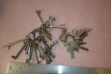 Random skeleton keys lot of 50 hollow solid cabinet flat steampunk #1678