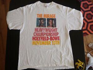 Vintage 90s Mirage Heavyweight Championship Holyfield Bowe Boxing Shirt XL USA
