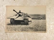 RARE KGB SEIZED GERMAN PHOTO PANZER TANK  KGB archive stamped hand signed WW2