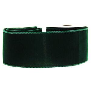 Velvet Ribbon 63mm Wide x 9m Emerald Green
