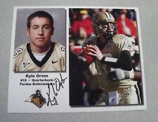 KYLE ORTON SIGNED 8X10 AUTOGRAPH PHOTO - PURDUE BOILERMAKERS
