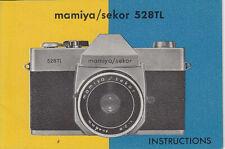 Mamiya Bedienungsanleitung für Mamiya 528 TL, english - Instructions