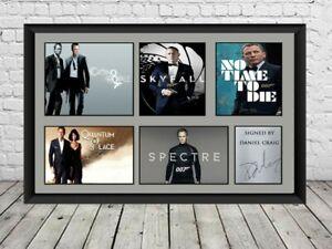 Daniel Craig Signed Photo Print Poster James Bond Movie Memorabilia 007