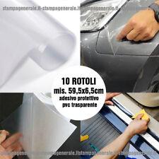 10 Rotoli pellicola protettiva pvc trasparente porte sportelli auto urti graffi