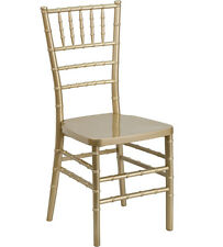 Flash Furniture Flash Elegance Gold Resin Stacking Chiavari Chair LE-GOLD-GG NEW