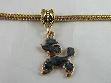 GP POODLE PUPPY DOG DANGLE CHARM EURO STYLE CHARM BRACELETS & FREE BONUS GIFT!