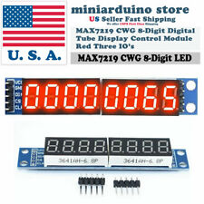 MAX7219 CWG 8-Digit Digital Tube Display TM1638 Control Module Red for Arduino