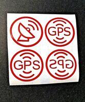 4X Antifurto GPS SATELLITE Adesivo auto moto Sticker SAT Car Security no theft