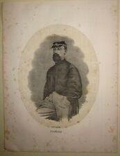1862 COSENZ Enrico litografia Terzaghi Gaeta spedizione dei mille