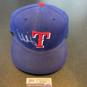 Rick Helling Signed Game Model Texas Rangers Baseball Hat Cap With JSA COA