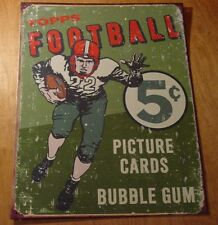 Rustic Vintage Style Topps Football Card Pack Rustic Advertising Sign Decor New
