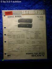 Sony Service Manual ta f100/f200 amplifier (#1263)