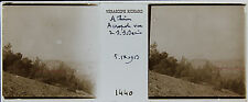 GRECE Athènes STEREO 45x107mm Plaque de verre pos. 1913