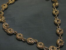 Silvertone Vintage Choker Necklace, Open Links with Design - very nice