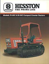 Farm Tractor Brochure - Hesston - 70-65C 95-55C - Crawler - 1988 (F5006)