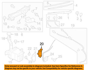 SUBARU OEM 06-14 Impreza Wiper-Rear Washer Pump 86611AG000