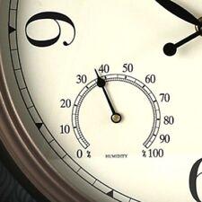 Large 33cm Wall Clock Outdoor Humidity & Temperature Dials Gauge Roman Numerals