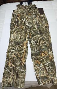 Duck Commander Bibs Size XL Camo Pants Hunting Camouflage NWOT