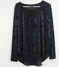 SIMPLY VERA WANG WOMENS Evening Blouse Shirt Top Sz L Black
