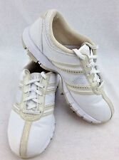 WOMENS NIKE LEATHER GOLF SHOES SIZE 6 WHITE BEIGE