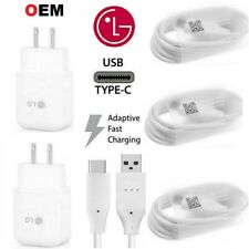 Original LG G5 G6 G7 Stylo 4 5 V20 OEM Adaptive Rapid Fast Charger Type-C Cable