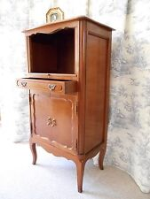 VINTAGE FRENCH CABINET - DESK - STORAGE - CHERRY WOOD TONES - FRENCH LOUIS STYLE