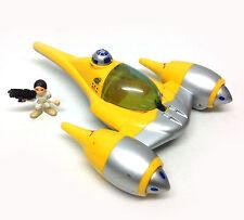 Star Wars Galactic Heroes Playskool NABOO FIGHTER vehicle with PADME toy figure