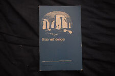 1975 Stonehenge UK Department of the Environment Official Handbook 34 pgs w/Maps