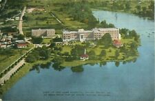 Lady of the Lake Hospital Baton Rouge LA Postcard Seen State Capitol Building
