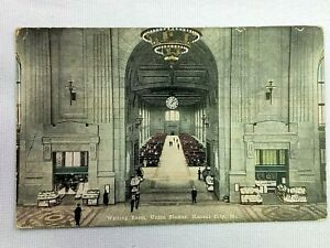 Vintage Postcard 1925 Waiting Room Union Station Kansas City MO Missouri