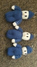 Hand made knitted r.a.f. keyring