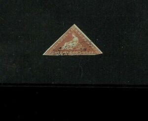 Cape of Good Hope #1 Fine Used. LR Corner Cut Away. Cat 400.00