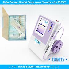 Dental Diode Laser 3 Watts 30 Tips Zolar Photon Power Amp Versatil Unit Low
