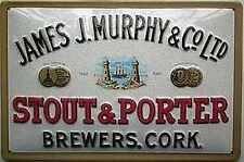 More details for james j murphy stout and porter embossed steel sign  300mm x 200mm (hi)