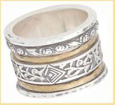 HTF Silpada Twirl Ring Brass Sterling Silver Size 10 R2293 New W/Silpada Box