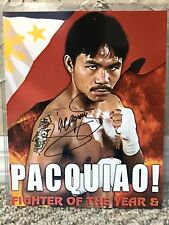 MANNY PACQUIAO SIGNED AUTO 8 X 10 BOXING PHOTO FIGHTER OF THE YEAR PROOF 139