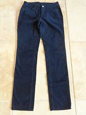 ANN TAYLOR corduroy jeans size 0 new $89 dark blue curvy fit